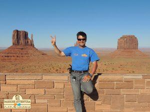 """Foto ricordo di Fabrizio nella """"mitica"""" Monument Valley in USA"""